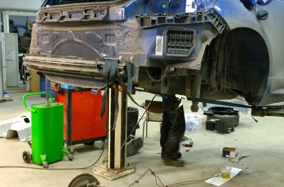 Scirocco in, rear axle out